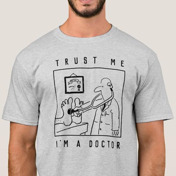 Funny dioctor with stethoscope cartoon