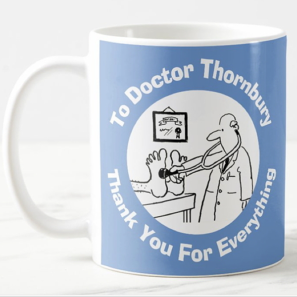 Mug as a thank you gift for a doctor